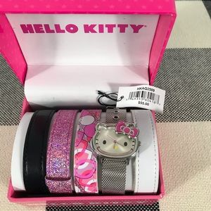 Hello Kitty Watch Set with 5 watch bands.